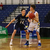 Maine Principals Association Class A South Quarterfinals Boys Basketball game between #4 Falmouth Yachtsmen vs #5 York Wildcats on Friday 2-16-2018 @ Portland Expo, Portland, ME.  Matt Parker Photos