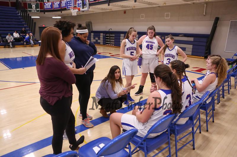 Winnacunnet Warriors Girls JV Basketball vs the Tomahawks of Merrimack High School on Friday 2-9-2018 @ WHS.  Matt Parker Photos