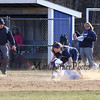 Winnacunnet Warriors Girls Soft ball vs the  Blue Hawks of Exeter High School on Wednesday 4-11-2018 @ WHS.  WHS-4, EHS-1.  Matt Parker Photos