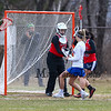 Winnacunnet Warriors Girls Lacrosse vs the Crusaders of Memorial High School at Winnacunnet's Home Opener on Thursday 4-12-2018 @ WHS.  WHS-15, MHS-0.  Matt Parker Photos