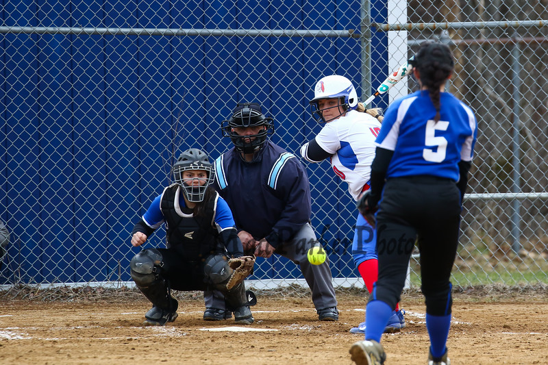 Winnacunnet Warriors girls softball vs the Tommahawks of Merrimack High School on Tuesday 4-17-2018 @ WHS.  Matt Parker Photos