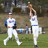 Winnacunnet's #7 Pat Cotter catches a pop-up with #8 Seamus Fenlon backing him up at Wednesday's baseball game between Winnacunnet and Nashua South High Schools on 4-18-2018 @ WHS.  Matt Parker Photos