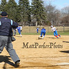 Winnacunnet Warriors Girls Softball vs the Blue Devils of Salem High School on Friday 4-20-2018 @ WHS.  WHS-1, SHS-3.  Matt Parker Photos