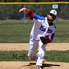 Winnacunnet's pitcher #24 Andrew Mills releases a fast ball during Monday's boys baseball game between Winnacunnet and Timberlane high Schools on 4-23-2018 @ WHS.  Matt Parker Photos