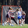 Winnacunnet Warriors girls varsity lacrosse vs the Grizzlies of Goffstown High School on Monday 4-23-2018 @ WHS.  WHS-15, GHS-3.  Matt Parker Photos