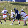 Winnacunnet Warriors Boys Varsity Lacrosse vs the Saints of St. Thomas Aquinas High School on Tuesday 4-24-2018 @ WHS.  WHS-9, STA-6.  Matt Parker Photos