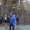 Winnacunnet Warriors Boys Tennis home opener against the Blackbirds of Keene High School on Monday 4-9-2017 @ WHS.  Matt Parker Photos