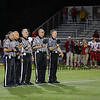 Referees during the National Anthem at the Portsmouth Clippers Football vs the Red Raiders of Spaulding High School on Friday Night 9-27-2019 @ PHS.  Matt Parker Photos