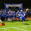 Warriors run onto the field, Winnacunnet Warriors Football game vs the Purple Panthers of Nashua South High School on Friday Night 10-11-2019 @ WHS.  WHS-0, NSHS-19.  Matt Parker Phots