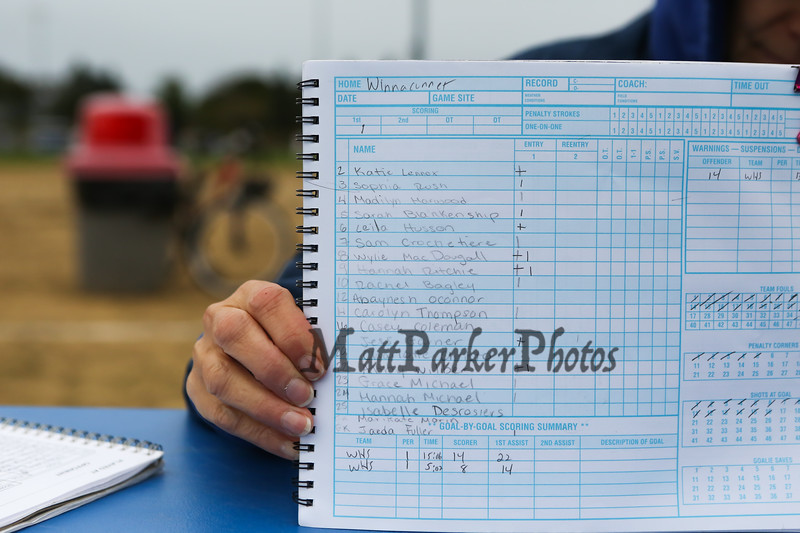 Roster, Winnacunnet Warriors Girls Field Hockey game vs the Panthers of Nashua South High School on Friday 10-11-2019 @ WHS.  WHS-3, NSHS-0.  Matt Parker Photos