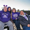 Marshwood Hawks fans pose for a photo while waiting for the start of Friday Night's football game between Marshwood and Kennebunk High Schools @ MHS.  [Matt Parker/Seacoastonline]