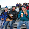 Marshwood Hawks fans in the stands enjoying burgers while while waiting for the start of Friday Night's football game between Marshwood and Kennebunk High Schools @ MHS.  [Matt Parker/Seacoastonline]