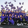 The Marshwood Hawks cheerleaders throw their Pom-poms into the air prior to the start of Friday Night's football game between Marshwood and Kennebunk High Schools @ MHS.  [Matt Parker/Seacoastonline]