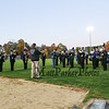 The Hawks Marching Band plays the National Anthem at Friday Night's football game between Marshwood and Kennebunk High Schools @ MHS.  [Matt Parker/Seacoastonline]