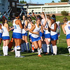 Starters are introduced, Winnacunnet Warriors Girls Field Hockey Senior Night game vs The Green Wave of Dover High School on Friday 10-18-2019 @ WHS.  WHS-1, DHS-0.  Matt Parker Photos