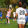 """Winnacunnet Warriors Girls Soccer game on """"Kick out Cancer"""" pink Night vs the Jaguars of Windham High School on Friday 10-18-2019 @ WHS.  WHS-0, WindHS-5.  Matt Parker Photos"""