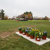 Potted flowers were selected as the Senior parent gifts, Winnacunnet Warriors Boys Soccer on Senior Night vs the Clippers of Portsmouth High School on Friday 10-25-2019 @ WHS.  WHS-4, PHS-1.  Matt Parker Photos