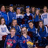 WHS Cheerleaders, Winnacunnet Warriors Football Senior Night game vs the Black Birds of Keene High School on Friday 10-25-2019 @ WHS.  WHS-0, KHS-27.  Matt Parker Photos