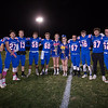Seniors pose for a photo, Winnacunnet Warriors Football Senior Night game vs the Black Birds of Keene High School on Friday 10-25-2019 @ WHS.  WHS-0, KHS-27.  Matt Parker Photos