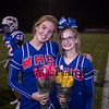 WHS Cheerleader Seniors Alyssa and Laurel Miller, Winnacunnet Warriors Football Senior Night game vs the Black Birds of Keene High School on Friday 10-25-2019 @ WHS.  WHS-0, KHS-27.  Matt Parker Photos