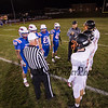 Coin toss, Winnacunnet Warriors Football Senior Night game vs the Black Birds of Keene High School on Friday 10-25-2019 @ WHS.  WHS-0, KHS-27.  Matt Parker Photos