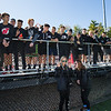 Exeter fans, Exeter Blue Hawks Football game vs the Warriors of Winnacunnt High School on Saturday 10-5-2019 @ EHS.  [Matt Parker/Seacoastonline]