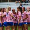 "Winnacunnet Warriors Girls Soccer vs the Tomahawks of Merrimack High School on ""Kick out Cancer"" Pink Day, Monday 10-7-2019 @ WHS.  WHS-4, MHS-3.  Matt Parker Photos"