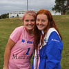 "Josie Coleman and Abby McDonald, Winnacunnet Warriors Girls Soccer vs the Tomahawks of Merrimack High School on ""Kick out Cancer"" Pink Day, Monday 10-7-2019 @ WHS.  WHS-4, MHS-3.  Matt Parker Photos"