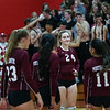 Portsmouth Clippers Girls Volleyball vs the Green Wave of Dover High School in the NHIAA DIV ! Semi-Finals match on Tuesday 11-5-2019 @ Pinkerton Academy.  Matt Parker Photos