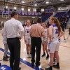 Coach Tom Hayward talking with his players, Winnacunnet Warriors Girls Varsity Basketball home opener vs the Cardinals of Bishop Guertin High School on Wednesday 12-18-2019 @ WHS.  WHS-23, BG-62.  Matt Parker Photos