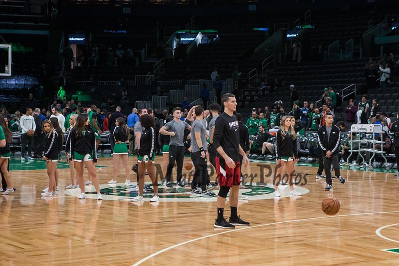 Boston Celtics NBA Basketball vs the Miami Heat on Wednesday 12-4-2019 @ The Boston Garden, Boston MA.  Celtics-112, Heat-93.  Matt Parker Photos