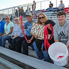 Spaulding Booster volunteers selling 50/50 tickets to the fans at Friday Night's football game between the Spaulding Red Raiders vs the Warriors of Winnacunnet High School on 9-20-2019 @ SHS, Rochester NH.  [Matt Parker/Seacoastonline]