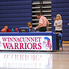 Warrior sign, Winnacunnet Warriors Girls Varsity Basketball game vs the Crusaders of Memorial High School on Friday 1-10-2020 @ WHS.  WHS-14, MHS-50.  Matt Parker Photos