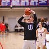WHS warm ups before  the game, Winnacunnet Warriors Boys Basketball game vs the Astros of Pinkerton Academy on Tuesday 1-14-2020 @ WHS.  WHS-53, PA-23.  Matt Parker Photos