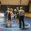 Winnacunnet Warriors Wrestling meet vs the Spartans of White Mountains Regional HS with the Crusaders of Littleton HS on Wednesday 1-15-2020 @ WHS.  WHS-54, WMHS-9.  Matt Parker Photos
