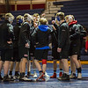 WHS wrestlers warming up at Winnacunnet Warriors Wrestling meet vs the Spartans of White Mountains Regional HS with the Crusaders of Littleton HS on Wednesday 1-15-2020 @ WHS.  WHS-54, WMHS-9.  Matt Parker Photos