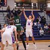 Winnacunnet's #25 Lucas Schaake and Central's #10 Doro Koito at the jump ball to start the game, Winnacunnet Warriors Boys Basketball game vs the Little Green of Central High School on Friday 1-16-2020 @ WHS. WHS-66, CHS-43.  Matt Parker Photos