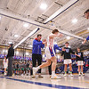 Winnacunnet players are introduced, Winnacunnet Warriors Boys Basketball game vs the Little Green of Central High School on Friday 1-16-2020 @ WHS. WHS-66, CHS-43.  Matt Parker Photos