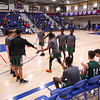 Central's players are introduced, Winnacunnet Warriors Boys Basketball game vs the Little Green of Central High School on Friday 1-16-2020 @ WHS. WHS-66, CHS-43.  Matt Parker Photos