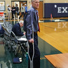 Exeter Coach Jeff Holmes, Exeter Blue Hawks Boys Basketball vs the Clippers of Portsmouth High School on Tuesday 1-7-2020 @ EHS.  EHS-56, PHS-46.  Matt Parker Photos