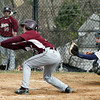 Abington's C.J. Brnnan lays down a bunt to set up a squeeze play at the plate.