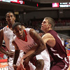 Abington's Mark Bond fights Chester's Richard Granberry for a rebound.
