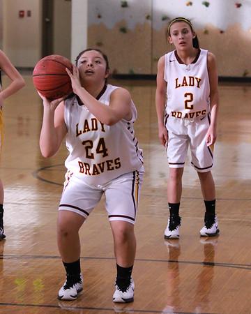 Middle School Lady Braves vs Murphy at SMC semis, January 20