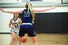 KELLY FLETCHER, REFORMER CORRESPONDENT -- #21, Madison Johnson, is confronted by #12, Taylor Goodell during the Colonels' match up against Bellows Falls Wednesday night at BUHS.
