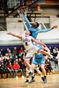KELLY FLETCHER, REFORMER CORRESPONDENT -- Brattleboro's Tyler Millerick and. South Burlington's Khalon Taylor vie for a rebound during their match up Friday night.  BUHS took the win in overtime 90-87.