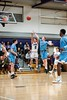 KELLY FLETCHER, REFORMER CORRESPONDENT -- Tyler Millerick tries for a 3 pointer during Friday night's game against South Burlington.  BUHS prevailed in OT, 90-87.
