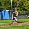 KRISTOPHER RADDER - BRATTLEBORO REFORMER<br /> Brattleboro's Adam Newton pitches against Mount Anthony Union at Brattleboro Union High School on Wednesday, May 9, 2018.