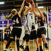 KRISTOPHER RADDER — BRATTLEBORO REFORMER<br /> Bellows Falls' girls beat Twin Valley 70-35 during a basketball game at Bellows Falls Union High School on Monday, Jan. 28, 2019.