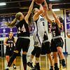 KRISTOPHER RADDER — BRATTLEBORO REFORMER<br /> Bellows Falls' girls beat Twin Valley 70-35 during a basketball game at Bellows Falls Union High School on Monday, Jan. 28, 2019.