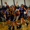 KRISTOPHER RADDER - BRATTLEBORO REFORMER<br /> Bellows Falls lost 51-54 to Lamoille during the Girls Varsity's first round of playoffs at Bellows Falls Union High School on Wednesday, Feb. 28, 2018.